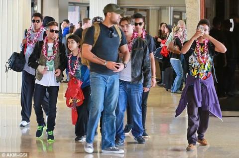 Prince, Paris, Blanket, Jermajesty, Jaafar à Hawaï pour les vacances de Noël