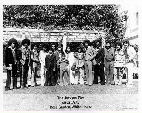 Les Jackson 5 à la Maison Blanche en 1975