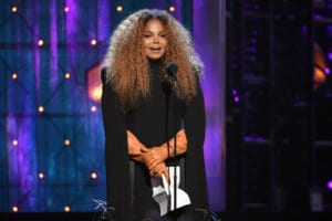 Mandatory Credit: Photo by Evan Agostini/Invision/AP/REX/Shutterstock (10182025as) Inductee Janet Jackson speaks at the Rock & Roll Hall of Fame induction ceremony at the Barclays Center, in New York 2019 Rock and Roll Hall of Fame Induction Ceremony - Show, New York, USA - 29 Mar 2019