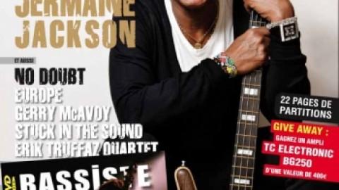 Jermaine en couverture de Bassiste magazine