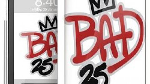 Uw smartphone met BAD25 logo